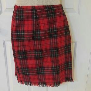 Rafaella Petites wool plaid skirt lined sz 10
